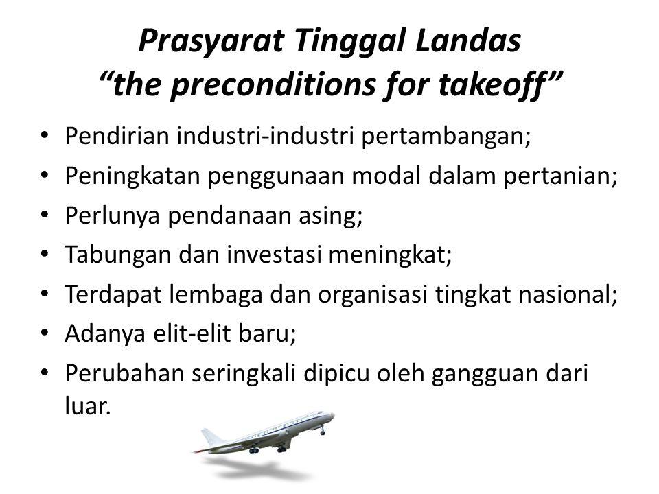 Prasyarat Tinggal Landas the preconditions for takeoff