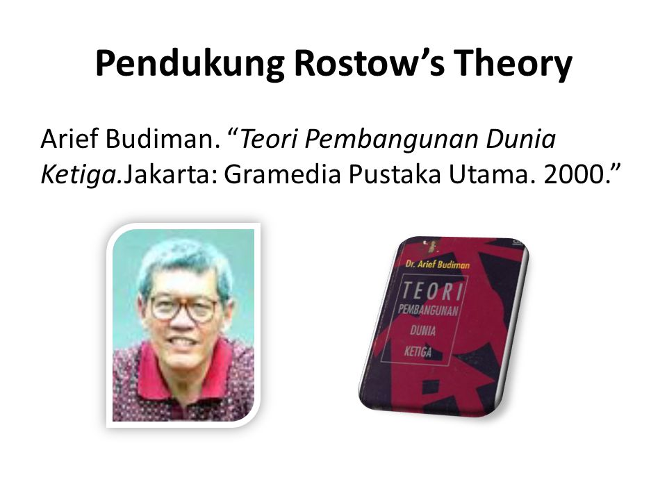 Pendukung Rostow's Theory
