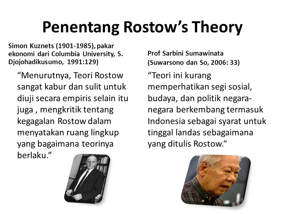 Penentang Rostow's Theory