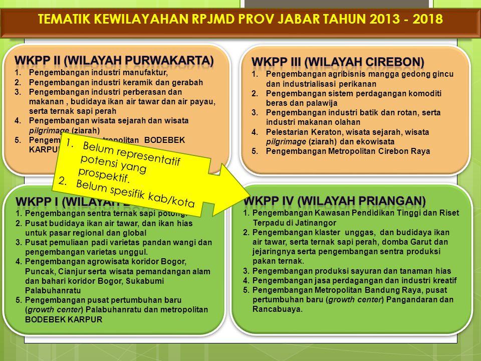 TEMATIK KEWILAYAHAN RPJMD PROV JABAR TAHUN 2013 - 2018