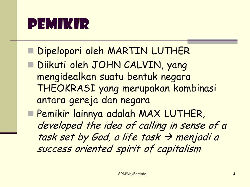 pemikir Dipelopori oleh MARTIN LUTHER