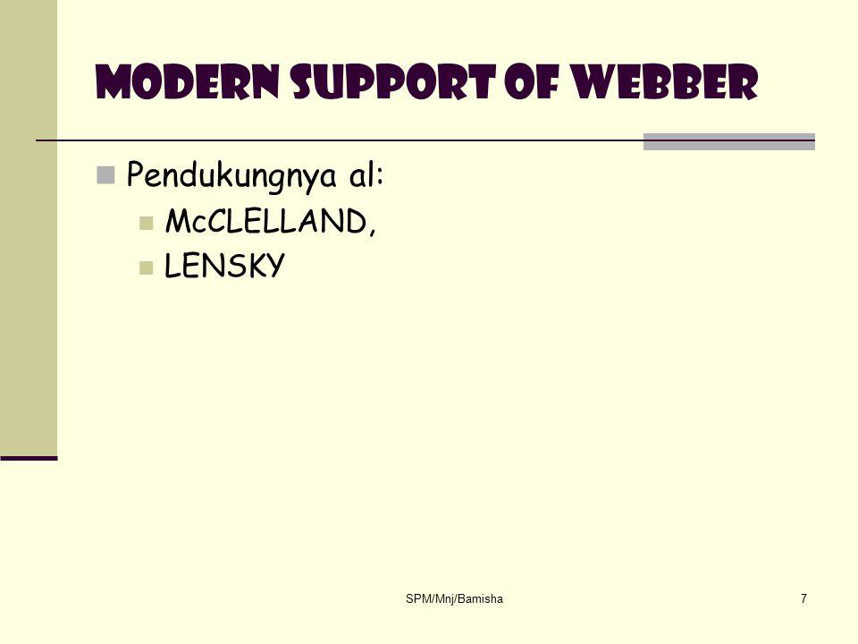 Modern support of webber