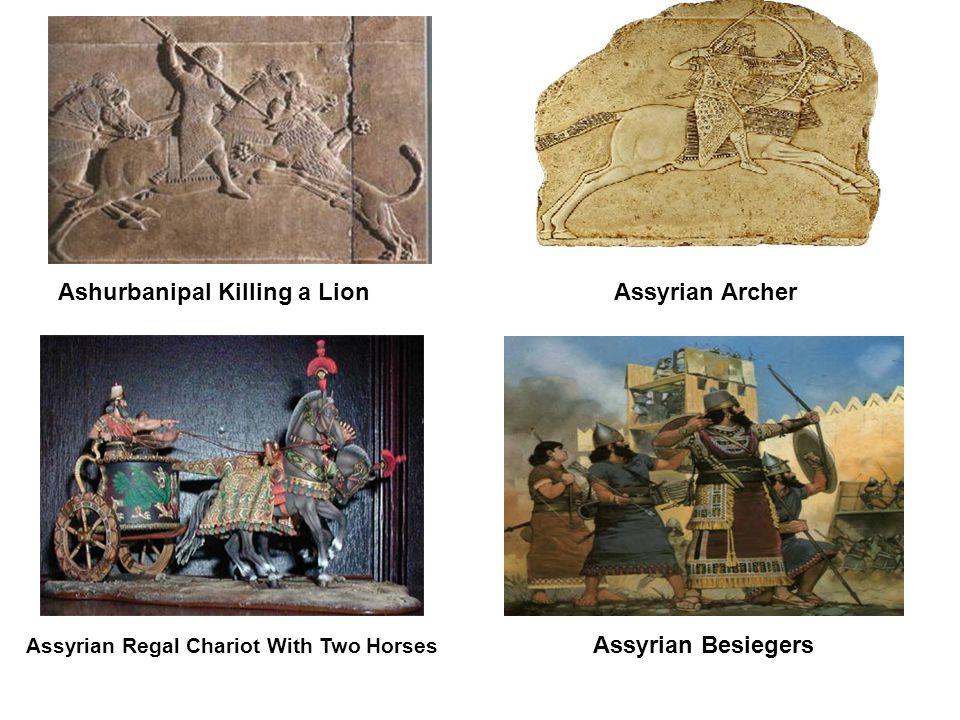 Ashurbanipal Killing a Lion Assyrian Archer