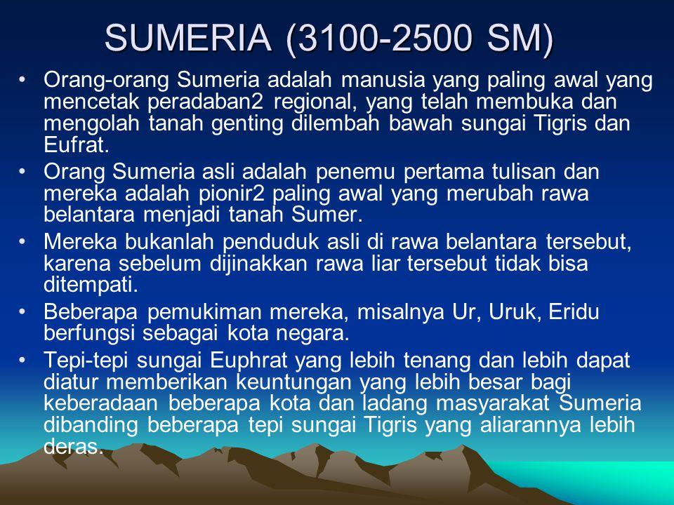 SUMERIA (3100-2500 SM)