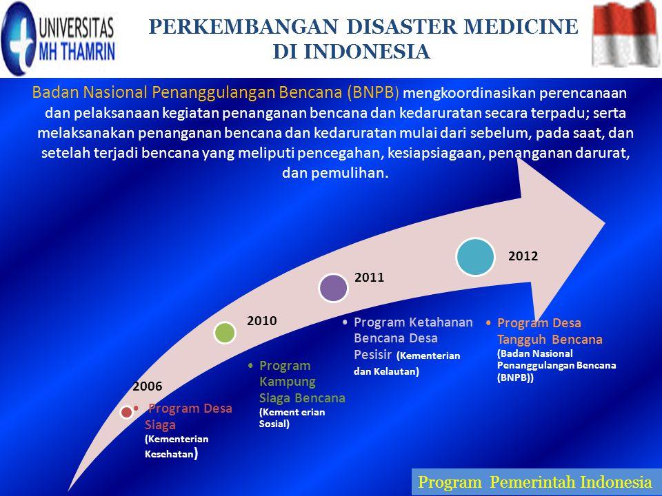 PERKEMBANGAN DISASTER MEDICINE DI INDONESIA