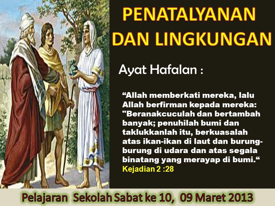 Pelajaran Sekolah Sabat ke 10, 09 Maret 2013