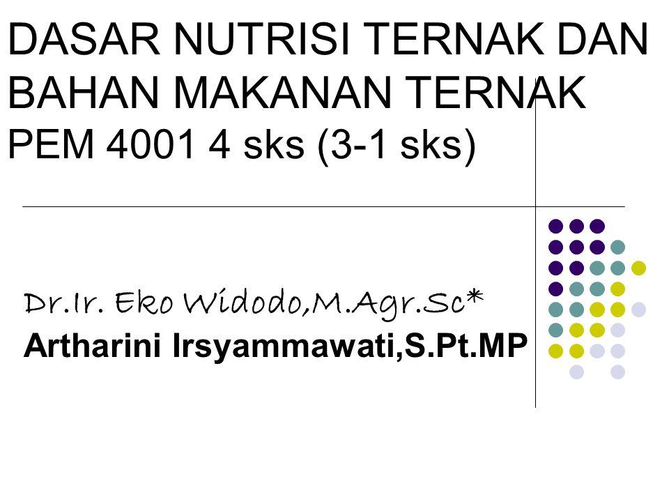 DASAR NUTRISI TERNAK DAN BAHAN MAKANAN TERNAK PEM 4001 4 sks (3-1 sks)