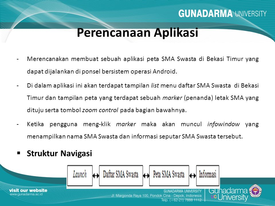 Perencanaan Aplikasi Struktur Navigasi