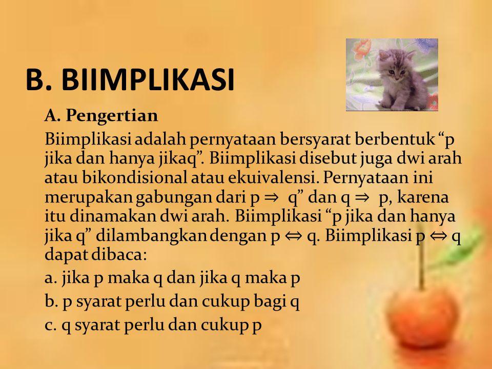 B. BIIMPLIKASI