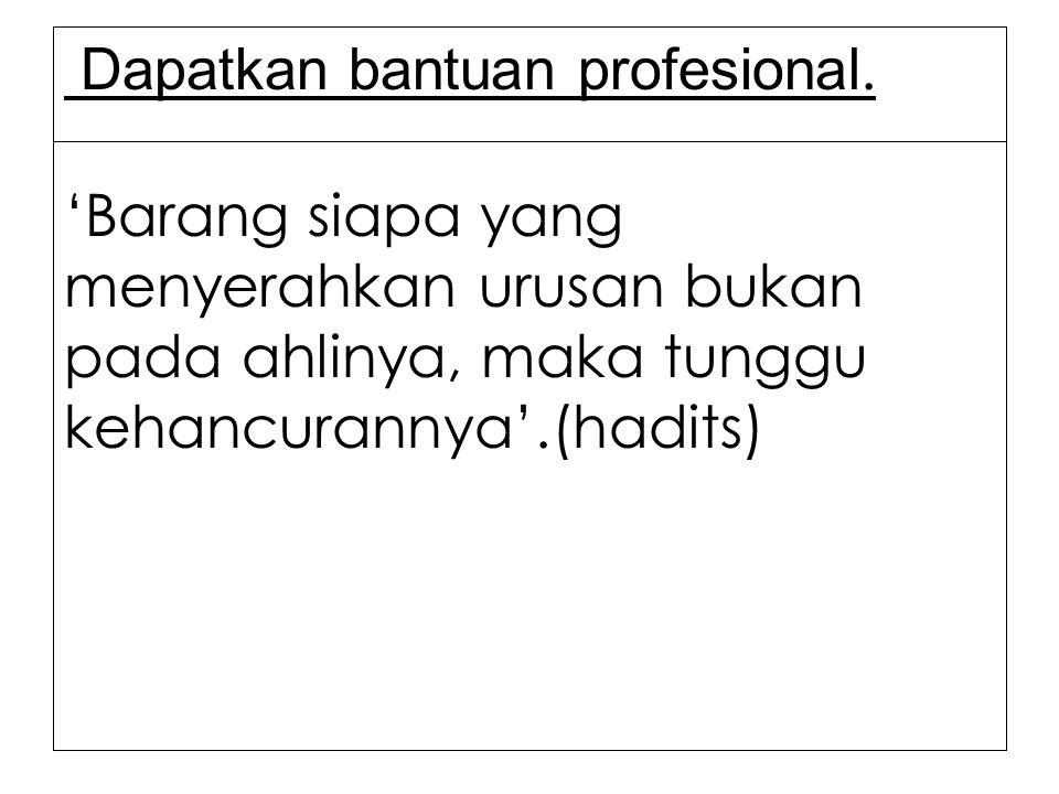 Dapatkan bantuan profesional.