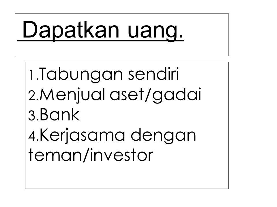 Kerjasama dengan teman/investor