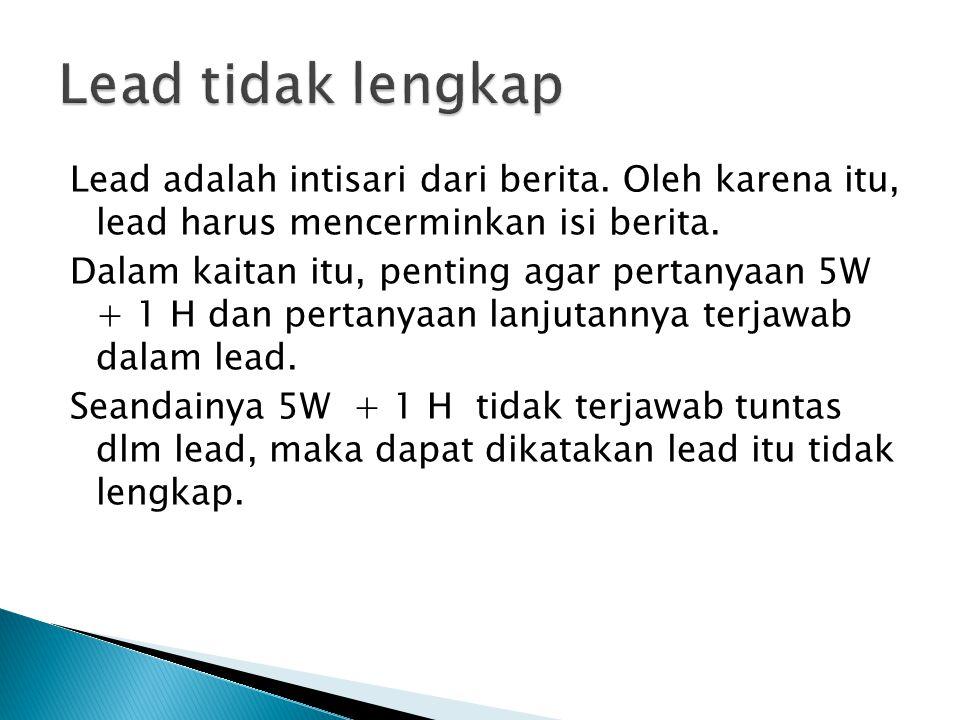 Lead tidak lengkap