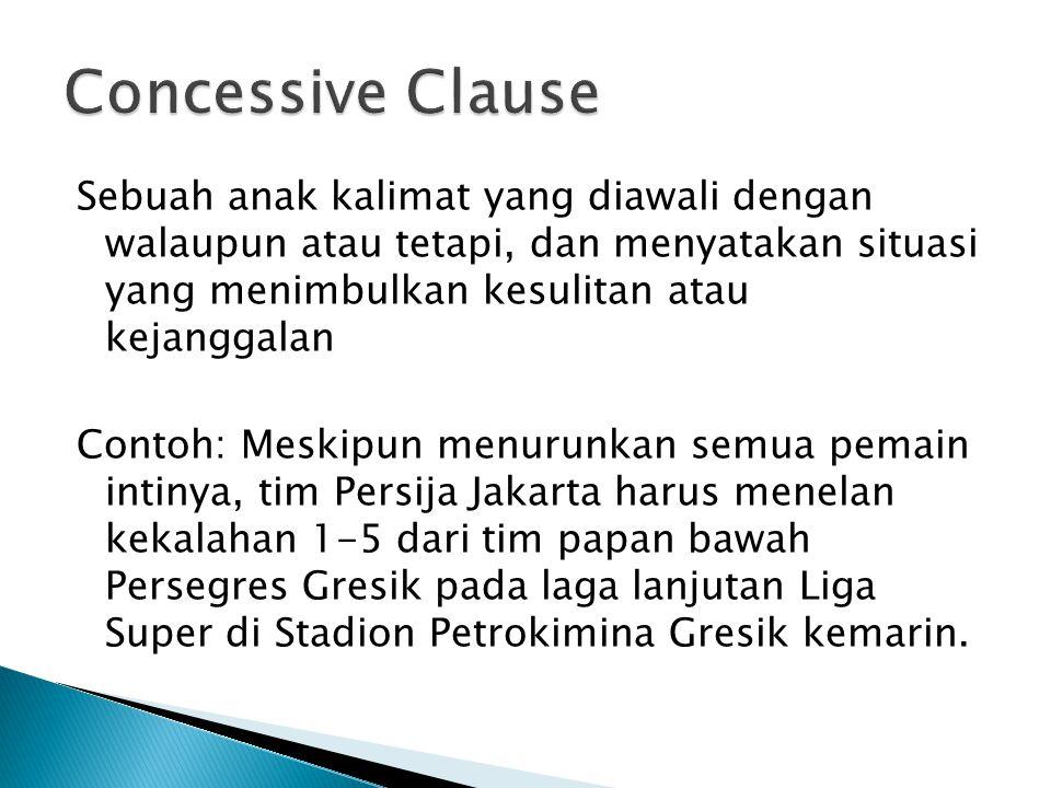 Concessive Clause
