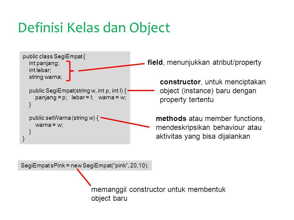 Definisi Kelas dan Object