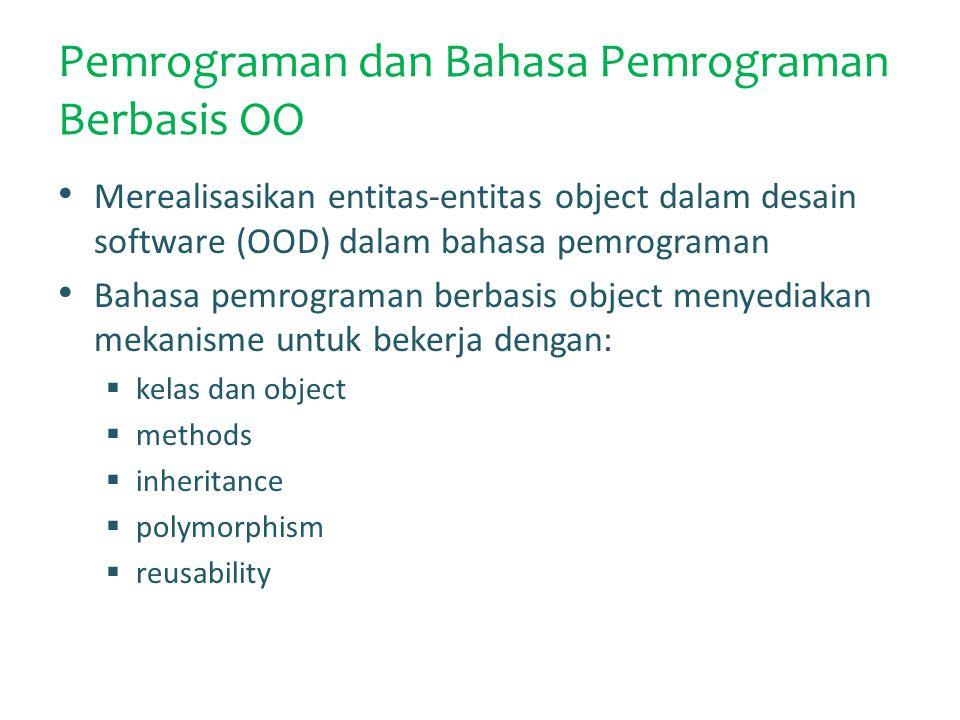 Pemrograman dan Bahasa Pemrograman Berbasis OO