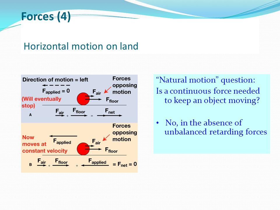 Horizontal motion on land