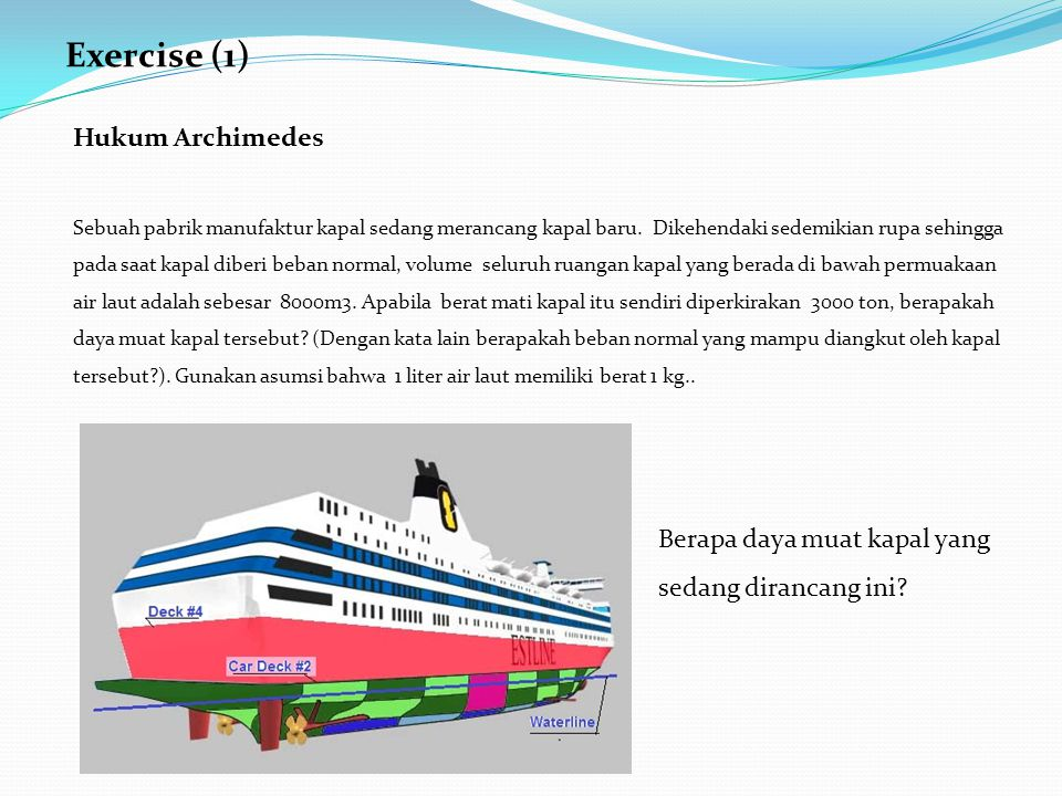 Exercise (1) Hukum Archimedes