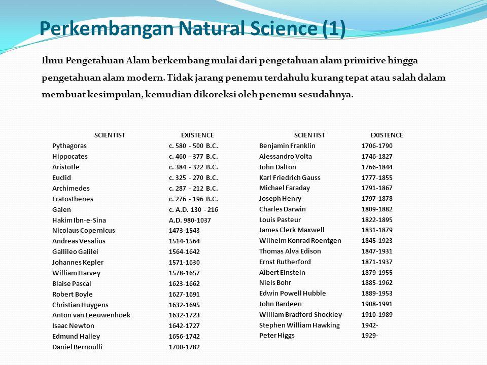 Perkembangan Natural Science (1)