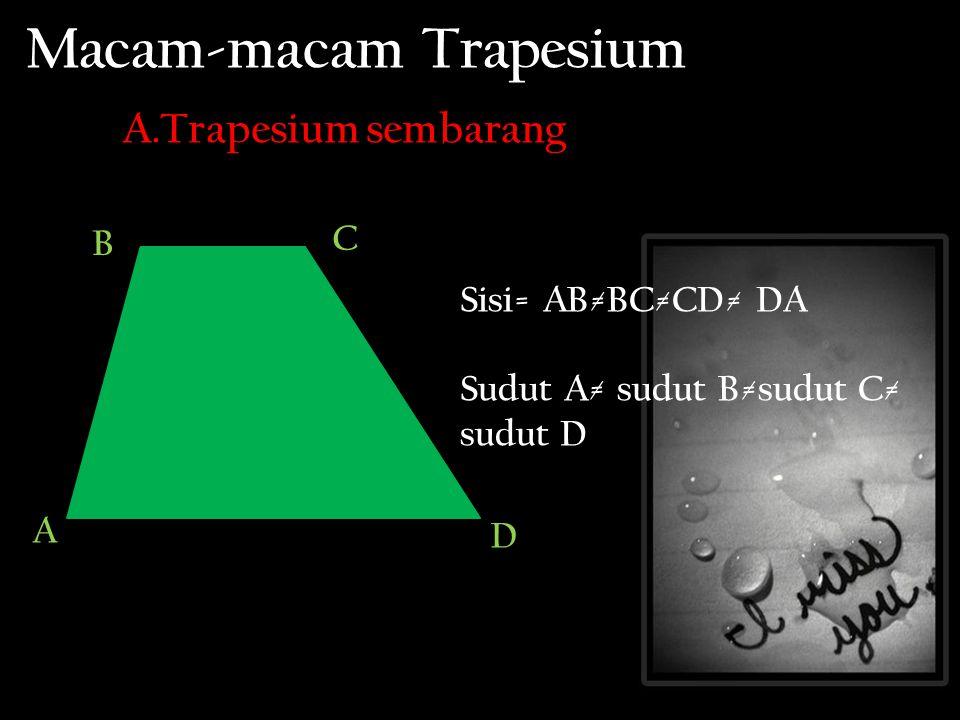 Macam-macam Trapesium