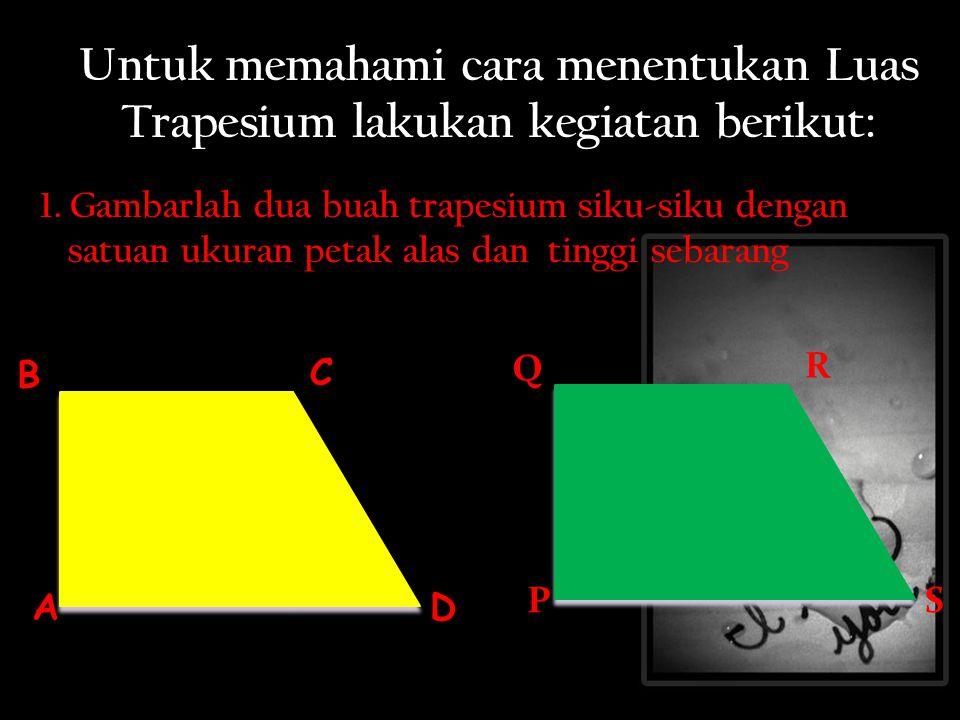 Untuk memahami cara menentukan Luas Trapesium lakukan kegiatan berikut: