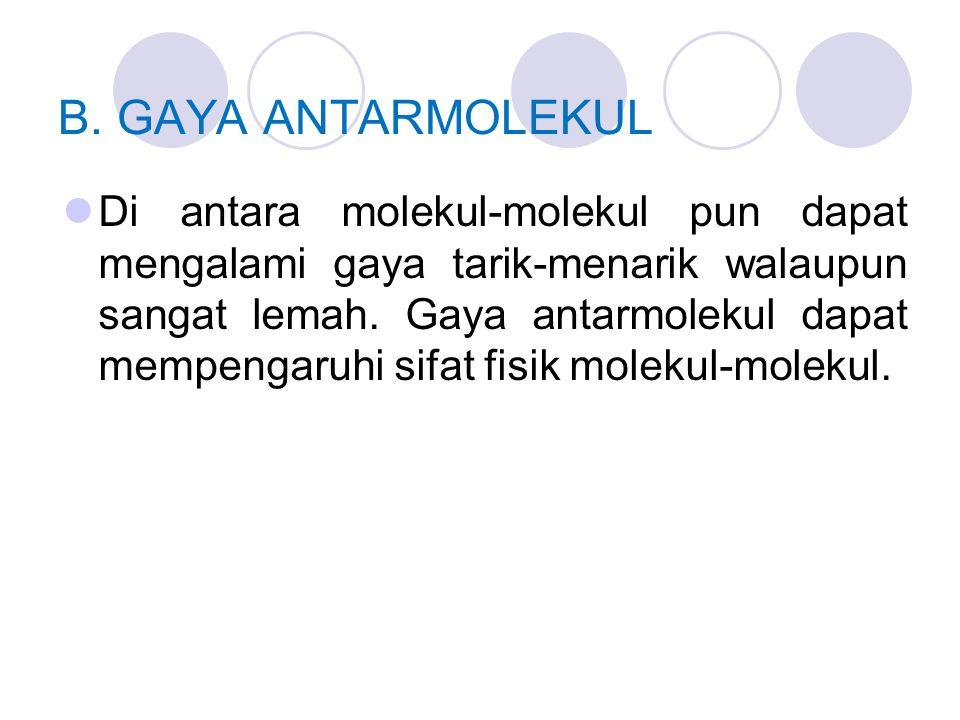 B. GAYA ANTARMOLEKUL