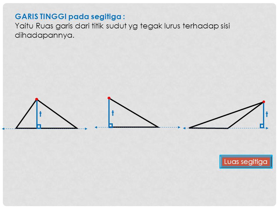 GARIS TINGGI pada segitiga :
