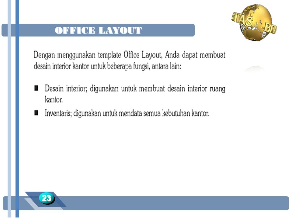 OFFICE LAYOUT 23