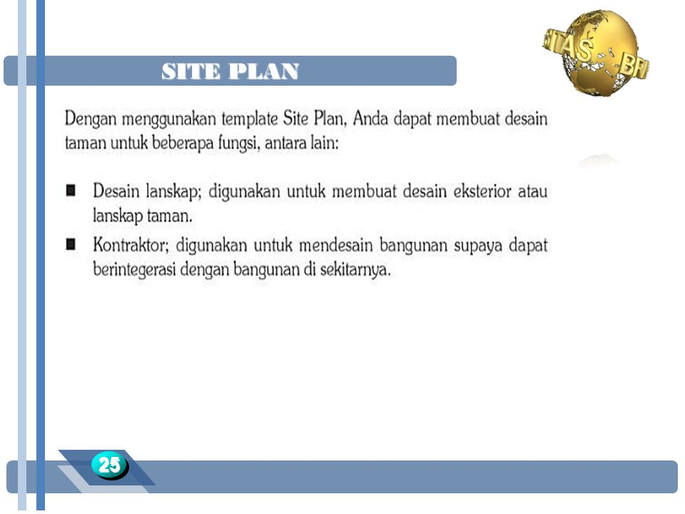 SITE PLAN 25