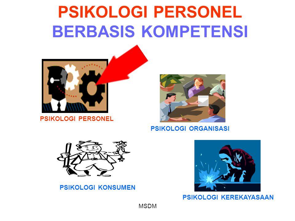 PSIKOLOGI PERSONEL BERBASIS KOMPETENSI
