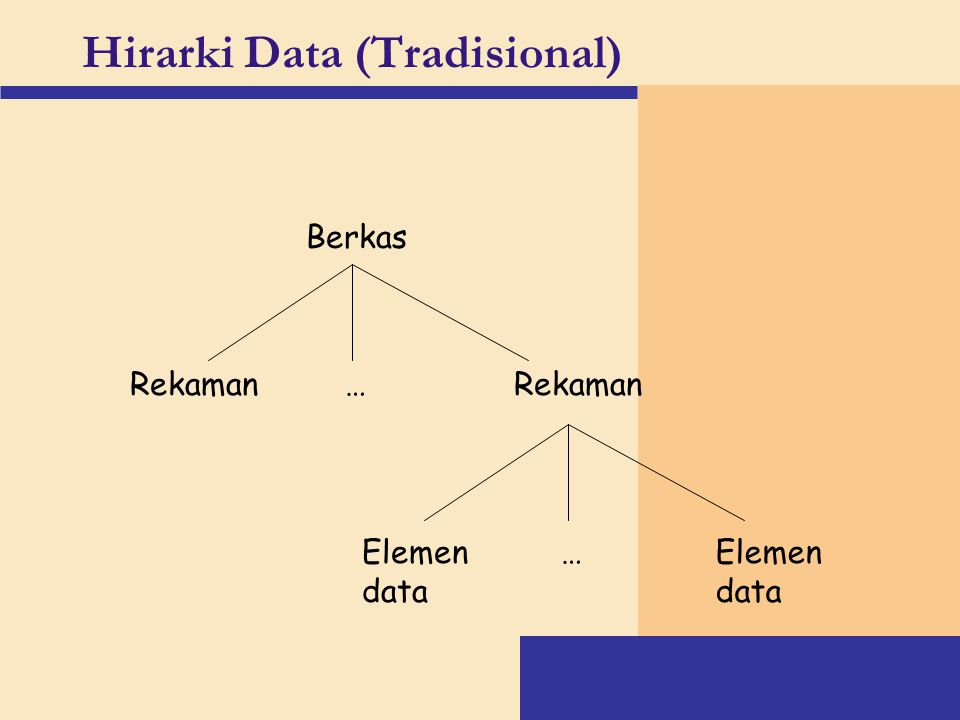 Hirarki Data (Tradisional)