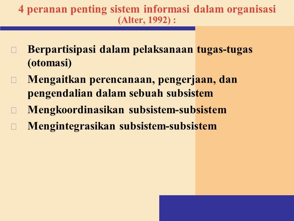 4 peranan penting sistem informasi dalam organisasi