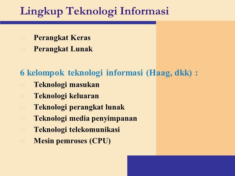 Lingkup Teknologi Informasi