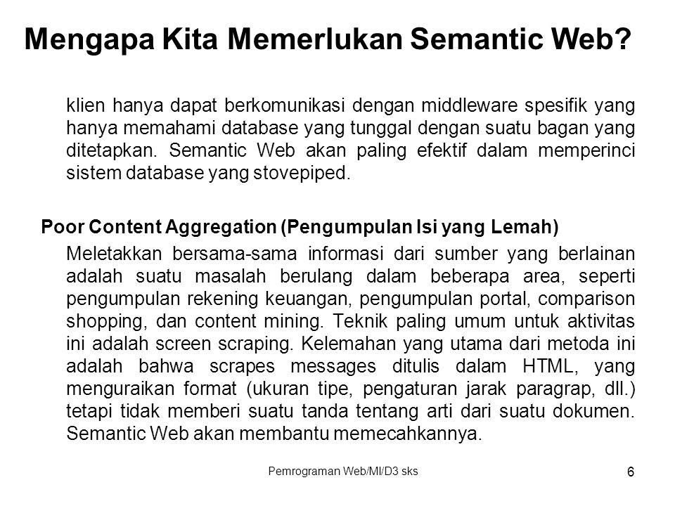 Mengapa Kita Memerlukan Semantic Web