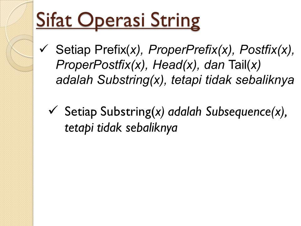 Sifat Operasi String