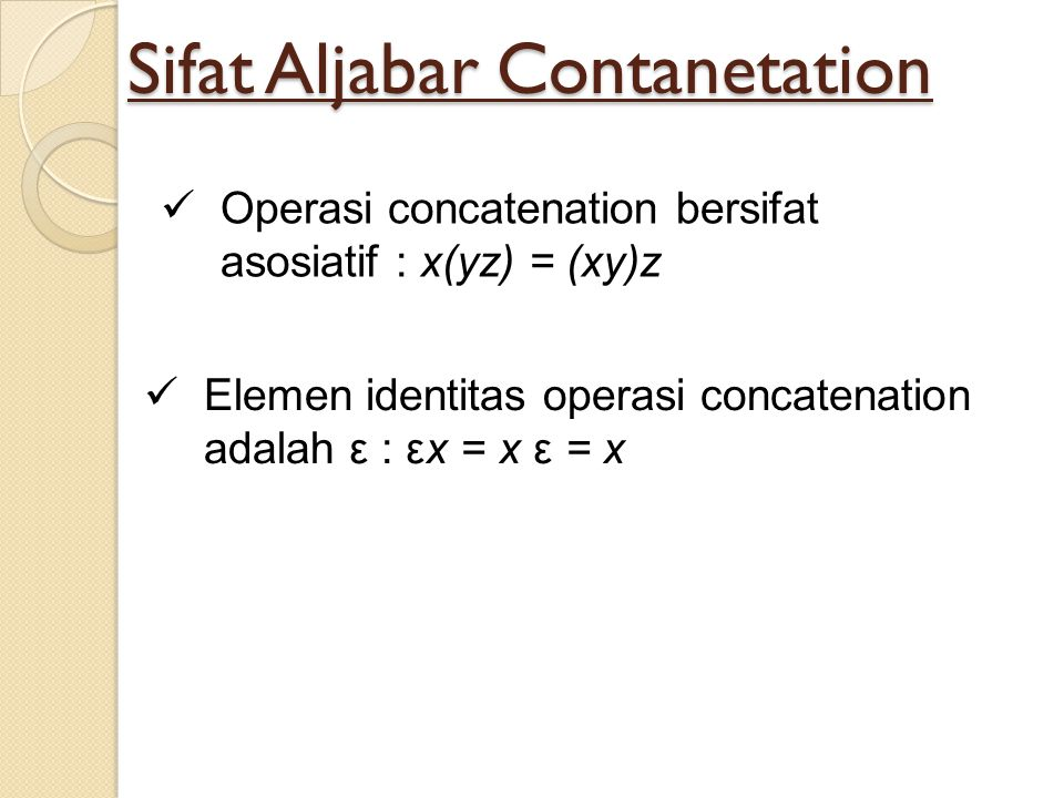Sifat Aljabar Contanetation