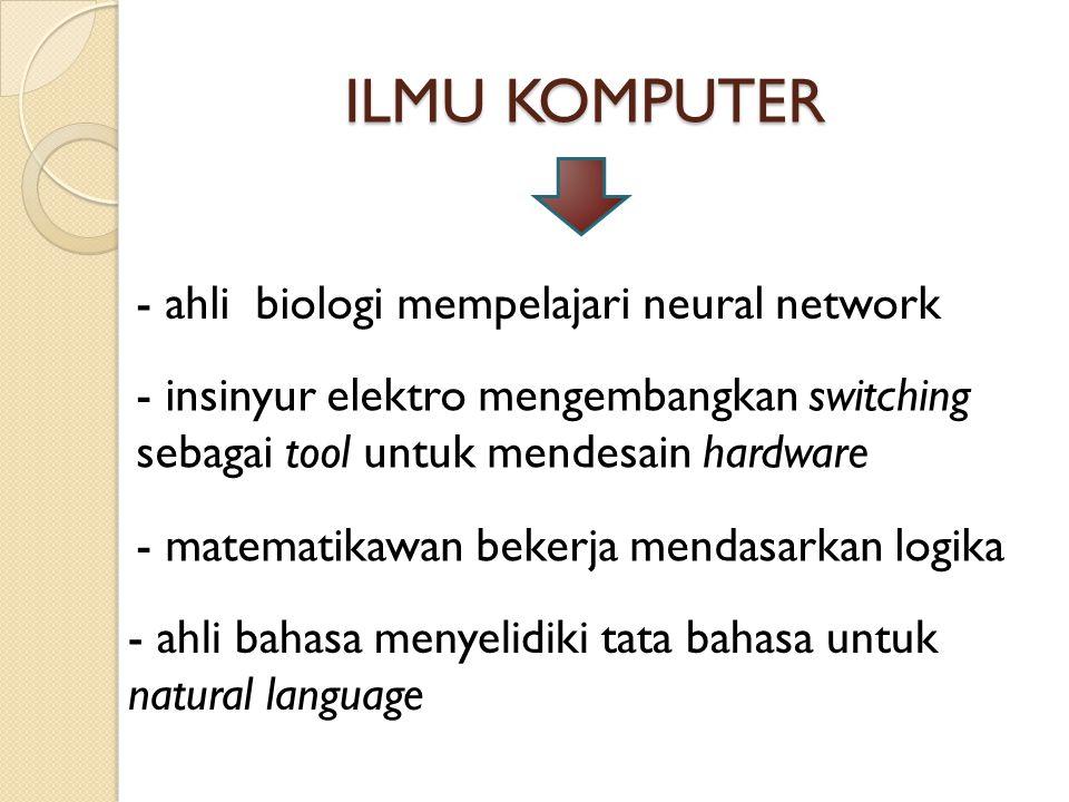 ILMU KOMPUTER - ahli biologi mempelajari neural network