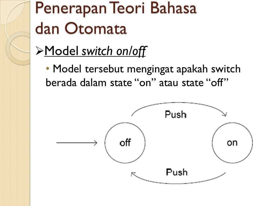 Penerapan Teori Bahasa dan Otomata
