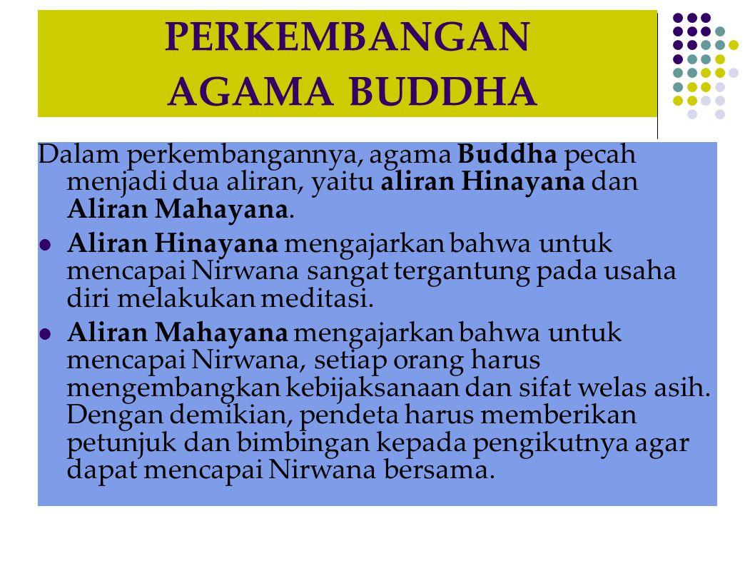 PERKEMBANGAN AGAMA BUDDHA
