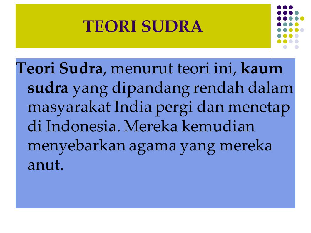 TEORI SUDRA