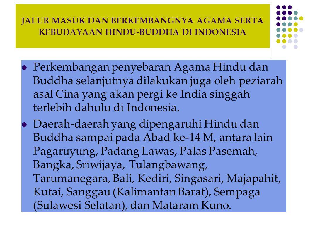 JALUR MASUK DAN BERKEMBANGNYA AGAMA SERTA KEBUDAYAAN HINDU-BUDDHA DI INDONESIA