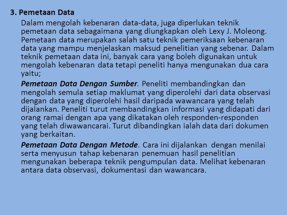 3. Pemetaan Data