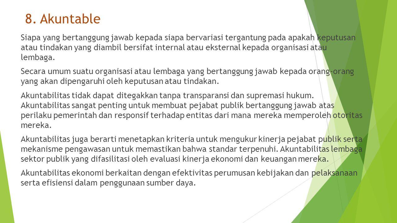8. Akuntable
