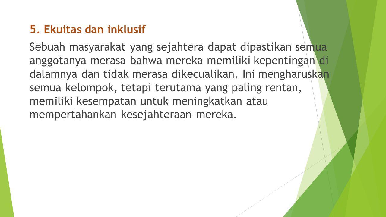 5. Ekuitas dan inklusif