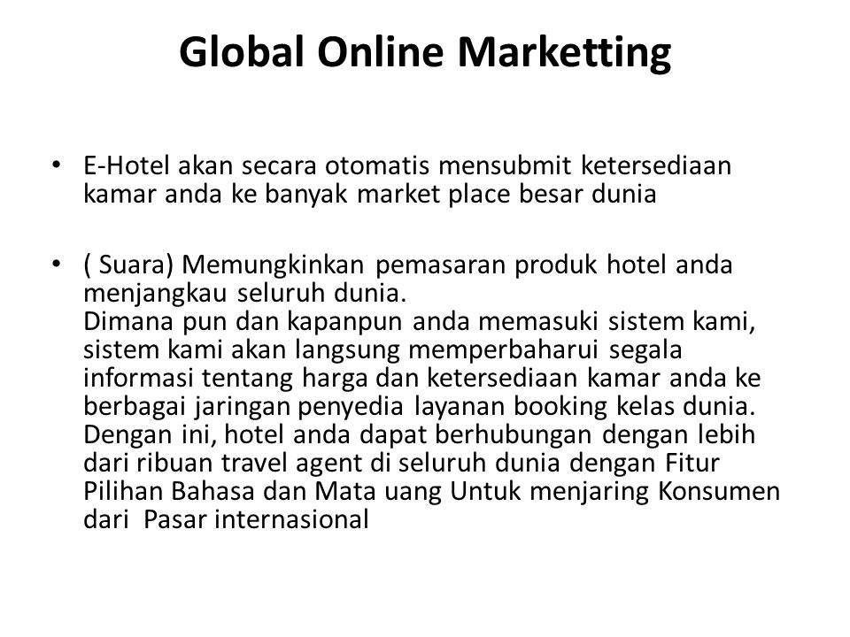 Global Online Marketting