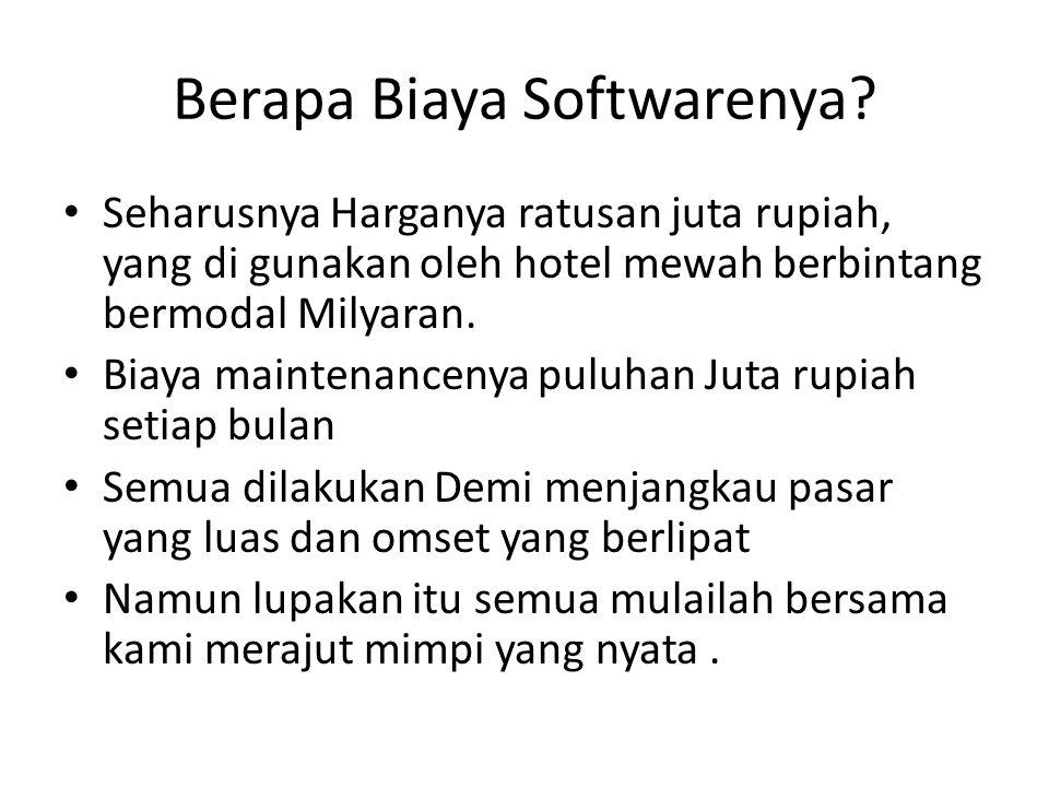 Berapa Biaya Softwarenya