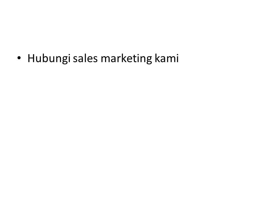 Hubungi sales marketing kami