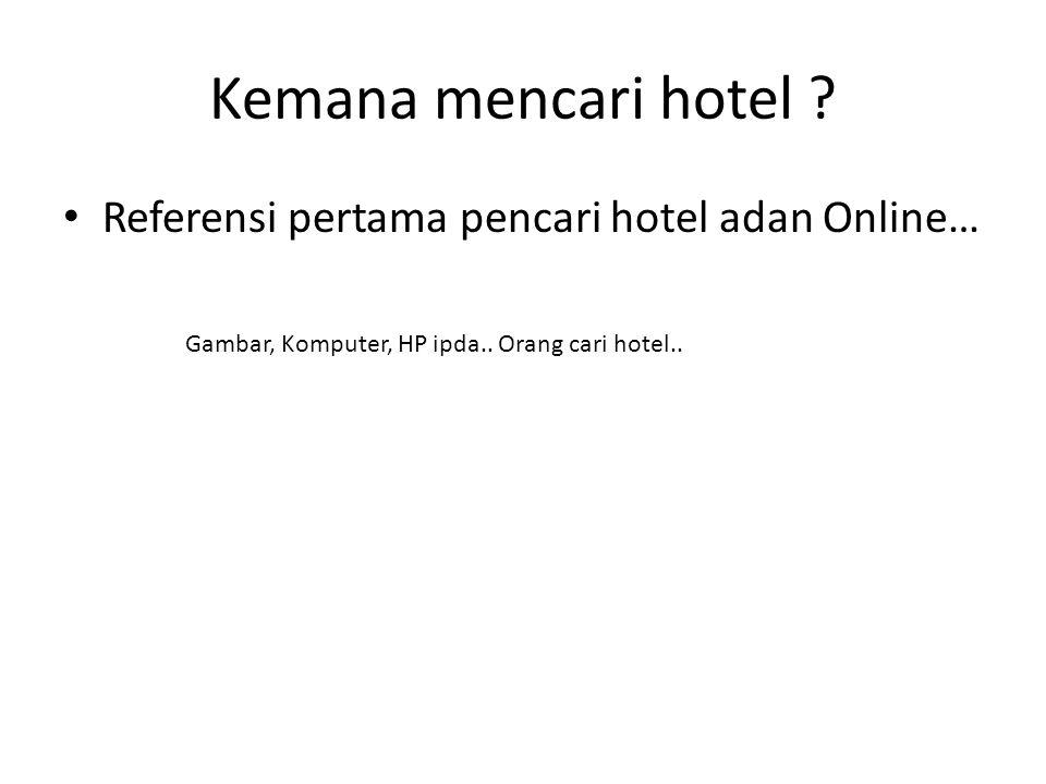 Kemana mencari hotel Referensi pertama pencari hotel adan Online…