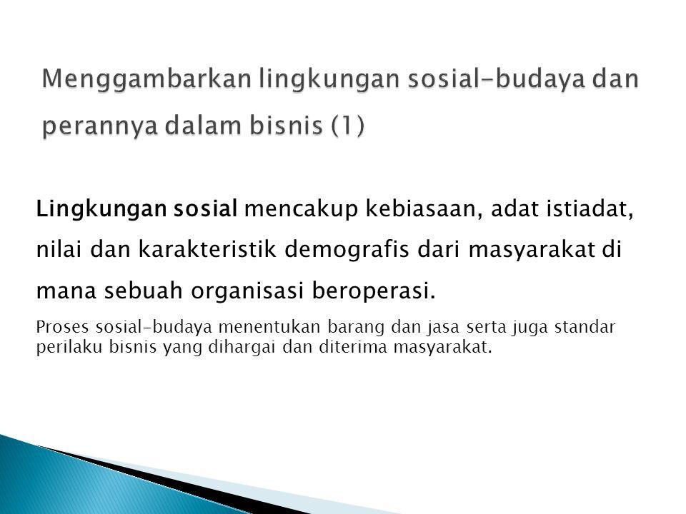 Menggambarkan lingkungan sosial-budaya dan perannya dalam bisnis (1)