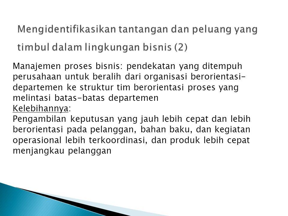 Mengidentifikasikan tantangan dan peluang yang timbul dalam lingkungan bisnis (2)