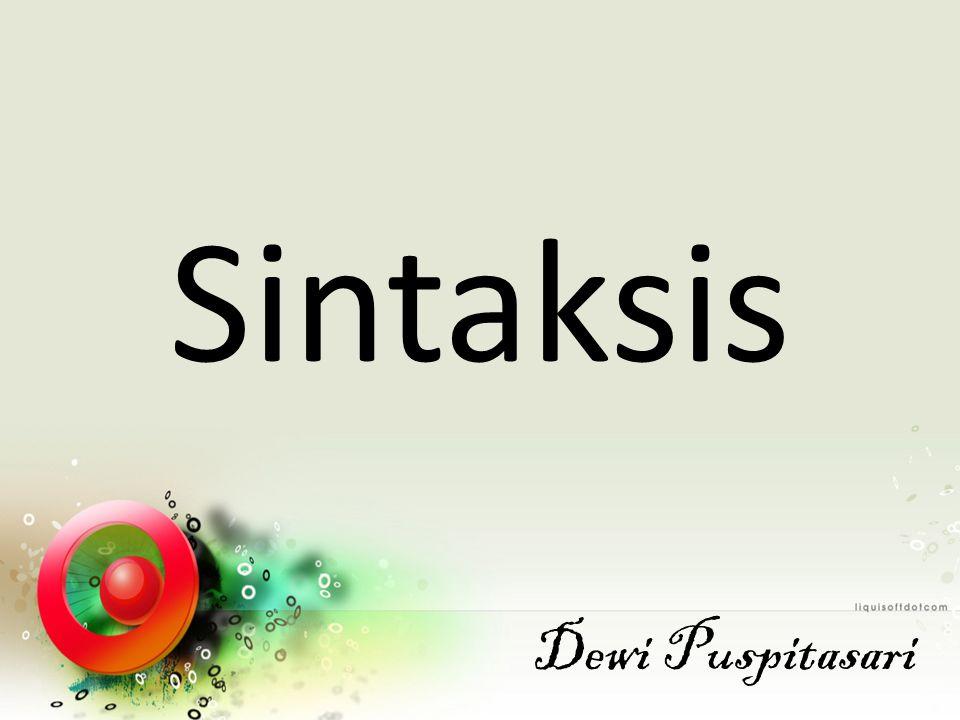 Sintaksis Dewi Puspitasari